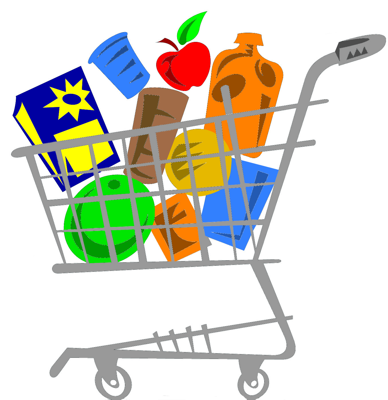 filled grocery cart u2022 stock up  u2022 groceries galore food shopping clipart grocery shopping list clipart